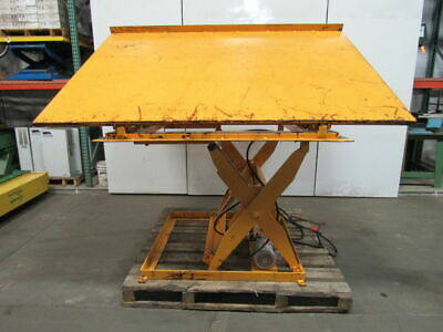 Econo Lift 3000lb Scissor Lift 26 Tiltdump Table 100x72 12-38 To 47-38