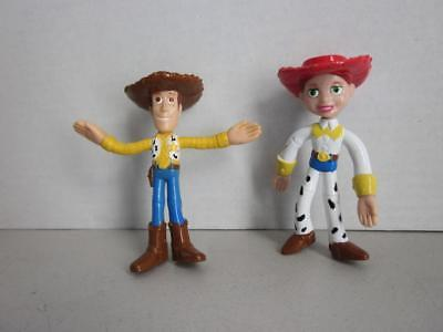 Disney TOY STORY WOODY and JESSIE Bendable Figures 4