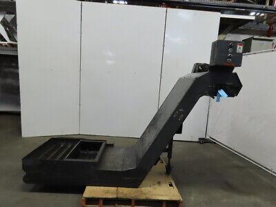 Enomoto 26 Belt Incline Chip Conveyor 39x34 Intake 208v 3ph 46-12 Disc. 2fpm
