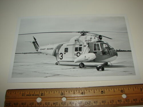 VINTAGE PHOTO PHOTOGRAPH AIRCRAFT Sikorsky HH52A Seaguard COAST GUARD HELICOPTER