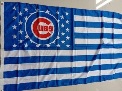 -  Chicago Cubs flag stars and stripes Flag 3x5FT Banner US Shipper