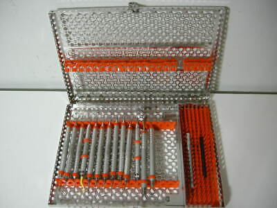 Set 13 Hu-friedy Dental Hygiene Instruments With Metal Cassette - Hu Friedy B
