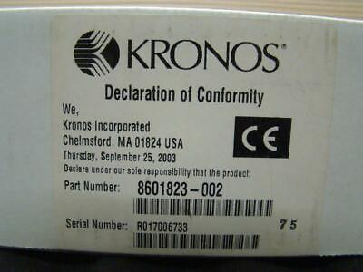 Kronos 8601823-002 Touch Id Fvd Biometric Reader Fingerprint Scanner - New