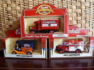 Lot of (3) Commemorative Campbell's Soup Die-Cast Trucks in Original Boxes