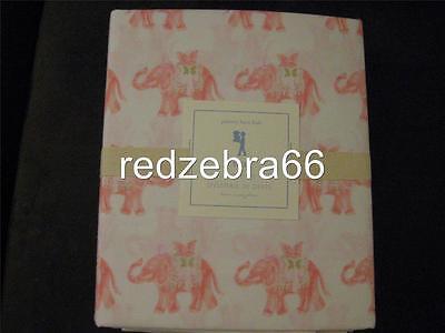 Pottery Barn Kids Elyse Twin Sheet Set 3 Pc New Pink Elephant