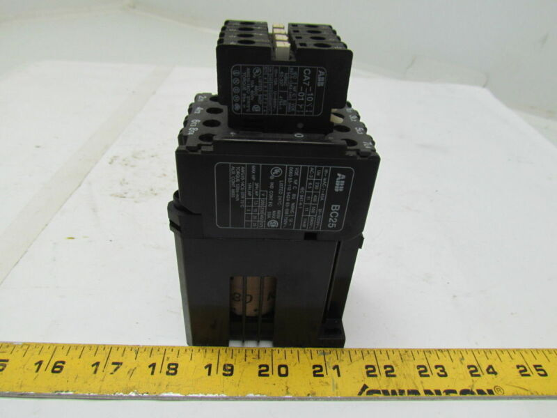 ABB BC25 Contactor Relay Motor Starter 24V Coil W/Aux Contacts