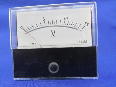 Hope Sun Avm7015 Pm-1 0-15 Dc Volts 2-12w X 2-38h Analog Panel Meter