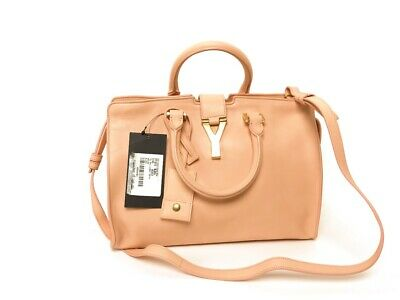 NWT Yves Saint Laurent Classic Cabas Chyc Ligne Y Macho Blush Leather Small Bag for sale  USA