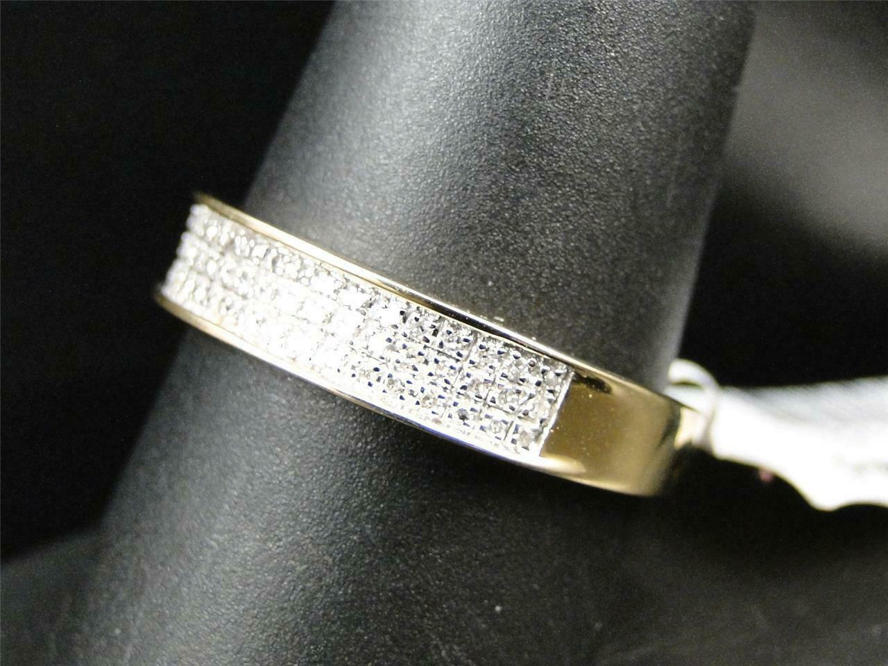 0.50Ct Round Cut Diamond Mens Wedding Engagement Band Ring 14K Yellow Gold Over 7