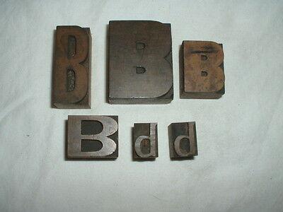 Lot  3   6  B     B  Wood Block Letterpress Letters 2  13 16  Pinterest Crafts
