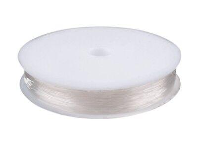 Transparent Elastisch (15m Silikonschnur / Perlenfaden elastisch 0,6mm auf Spule transparent Perlenschn)