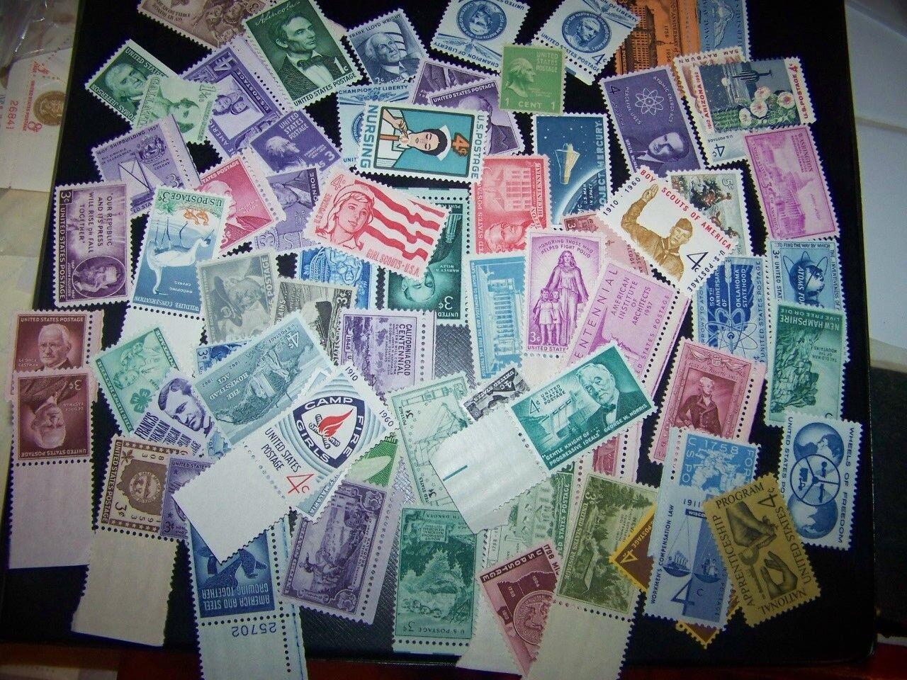 50-80 YEAR OLD Mint US Vintage Stamp Collection in Glassine Envl buy 2 get1 free