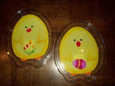 NEW 5 EASTER CHIC CHICKEN REUSABLE PLASTIC DINNER SNACK PLATE YELLOW 8