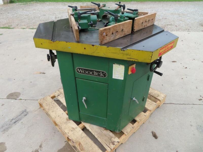 Good Used 1997 Woodtek 3 Head Spindle Shaper Model 832287 from School Shop