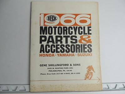 1966 Beck Parts And Accessories Catalog Honda Yamaha Suzuki L945