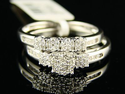 Bridal Duo Band (WOMEN'S BRIDAL ENGAGEMENT DUO DIAMOND RING BAND SET )