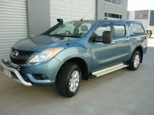 2011 Mazda BT-50 UP0YF1 GT Blue 6 Speed Manual Utility Grovedale Geelong City Preview