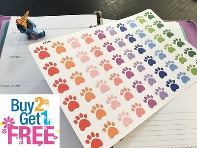 PP174 -- Paw Prints Life Planner Stickers for Erin Condren (60pcs) BUY2GET1FREE