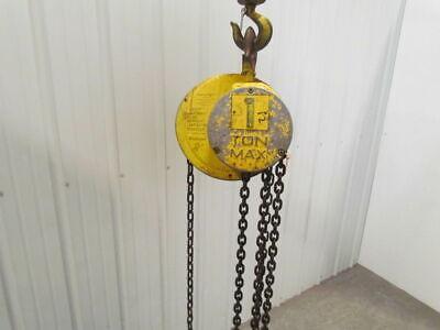 Cm Columbus Mckinnon 1 Ton Manual Chain Fall Hoist 7 Lift 2000 Lb Capacity