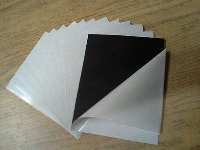 10 Self Adhesive Flexible Magnetic Sheets  8.5 X 11 Inches