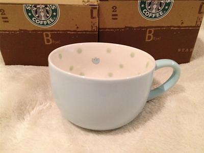 STARBUCKS COFFEE Powder Blue Polka Dot Mug Brand New RARE HTF free US shipping