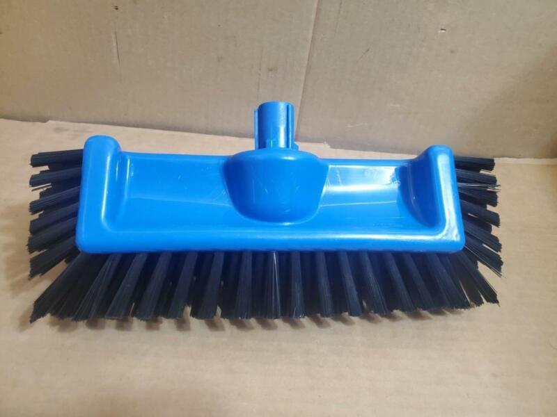 "12""BLUE CLIPPER DECK BRUSH *HI-LO FLOOR SCRUB BRUSH"