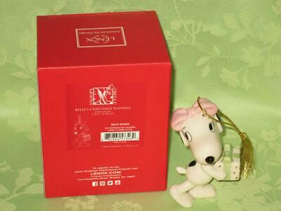 Lenox ~ Belle's Christmas Surprise ornament ~ Peanuts Snoopy Sister ~ free ship ()