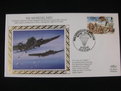 Benham Small Silk Stamp Cover  'The Bruneval Raid' from  WW 2 series issue