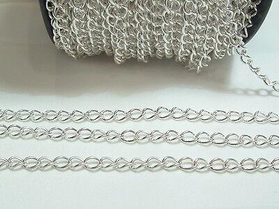 2 metres x Silver Plated Curb / Extender Chain BNChain04