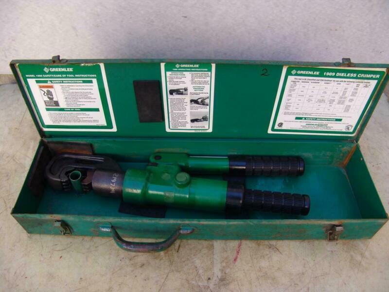 Greenlee 1989 dieless crimper hydraulic works great #2