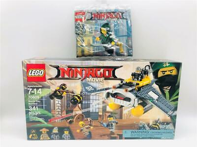 New/Sealed Lego Ninjago Movie 70609 Manta Ray Bomber + Bonus 30609 Lloyd Polybag