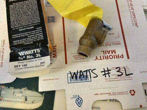 "WATTS  3L-150 PSI 3/4""  PRESSURE RELIEF VALVE"