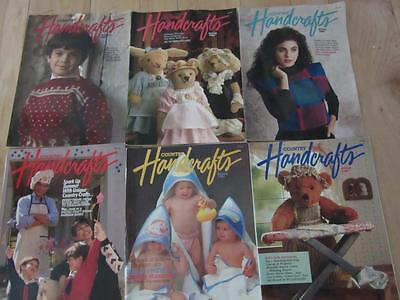 SIX COUNTRY HANDCRAFTS MAGAZINE ISSUES 1987-89 CHRISTMAS HALLOWEEN TOYS APRONS + (Halloween Handcrafts)