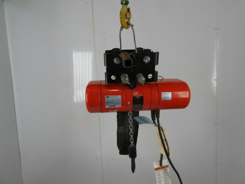 CM Lodestar Model B 1/4Ton Electric Chain Hoist 14