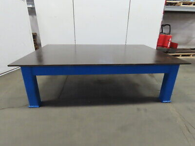 78 Thick Top Steel Fabrication Welding Layout Table Work Bench 109lx72wx32h