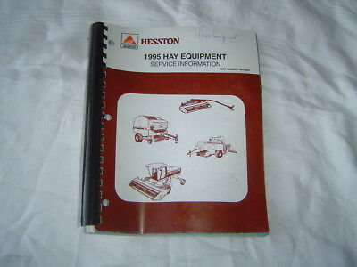 1995 Hesston Hay Equipment Service Information Manual 514 Baler 8400 Windrower