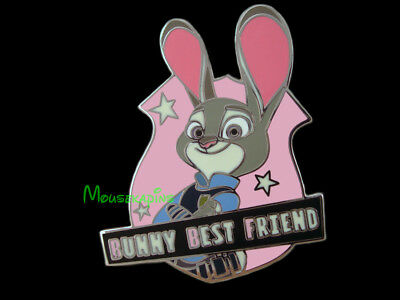 ZOOTOPIA Officer JUDY HOPPS Bunny Best Friend BADGE Disney Pin](Officer Judy)