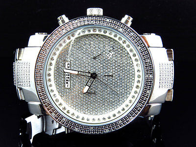 Herren Jojino / Joe Rodeo / Jojo Edelstahl 50mm Echter 25 Diamant Armbanduhr (Jojino Uhren)