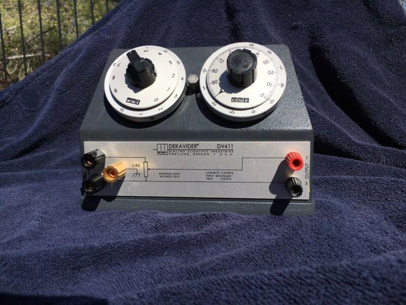 DEKAVIDER DV 411 Voltage Divider, 100K, 0.005% Linearity. Nice!!! Vintage, USA