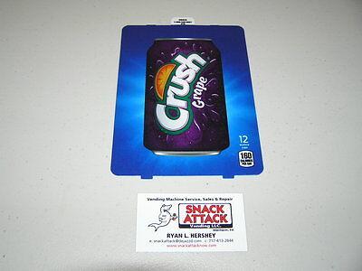 Dixie Narco 501e 276hv Soda Vending Machine Grape Crush 12oz Can Vend Label