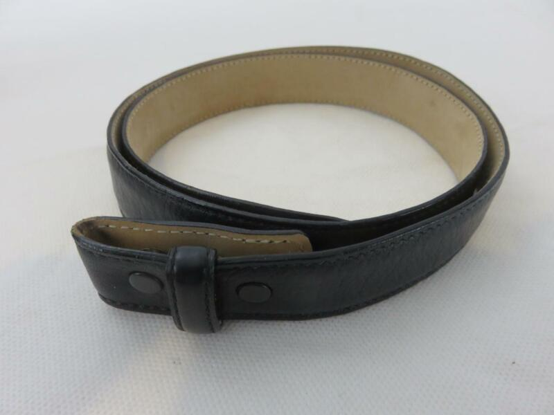 Tiffany & Co. Genuine Calfskin Leather Belt Strap Black Size 28