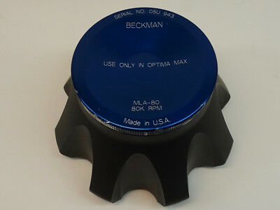 Beckman Mla-80 Titanium Ultracentrifuge Rotor 80000 Max Rpm For Optima-max