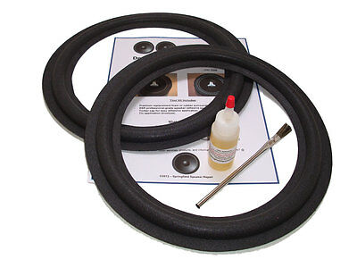 "2 Sony 12"" 1-544-105-11, 1-544-119-11 Speaker Foam Surround Repair Kit - 2A12B"
