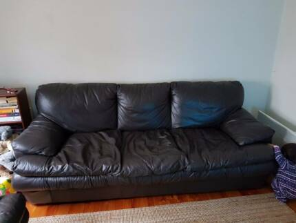 Brown Leather Couches (negotiable)