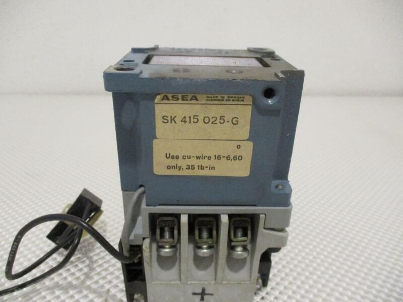 ONE USED ASEA DRIVE CONTACTOR SK 415 025 G, EFLG 40-3P.