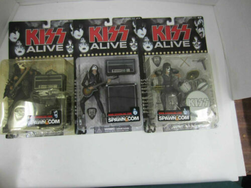2000 McFarlane KISS ALIVE Lot of 3 Action Figures New