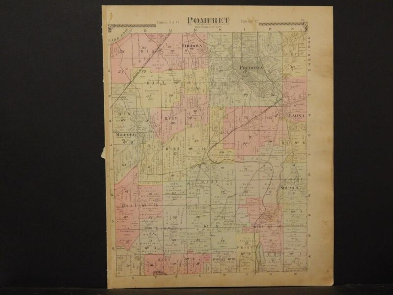 New York, Chautauqua County Map, 1881 Township of Pomfret !J2#04