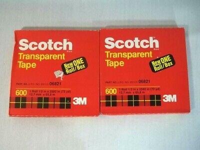 Scotch Transparent Tape 600 X 12 Roll Lot Of 2