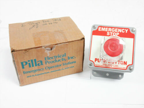 PILLA ELECTRICAL ST120ES EMERGENCY STOP NEMA 12K SPDT 20A PUSH PULL BUTTON