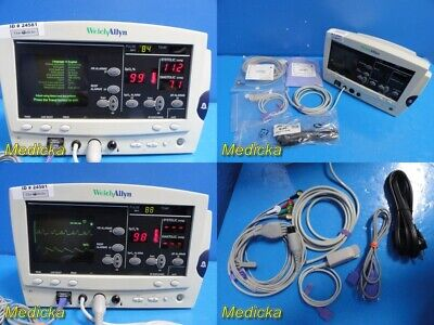 Welch Allyn 62000 Series Vital Signs Patient Monitor W Patient Leads 24581